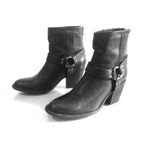 Frye Tabitha Harness Short Boots, Size 10